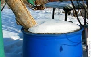 Как не разморозить емкость с водой