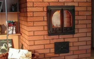 Чем облицевать печь на даче