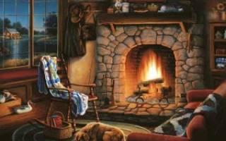 Печь камин для дачи длительного горения