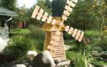 Декоративные домики и мельницы для сада