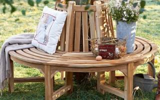 Декоративные скамейки для сада