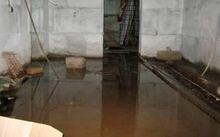Вода в подвале гаража что делать