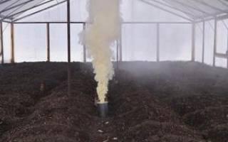 Обработка теплицы серной шашкой польза и вред